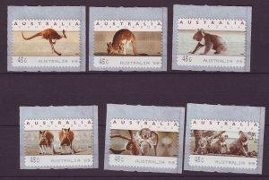 J24304 JLstamps 1995 australia set mnh #1294a-d-5 animals