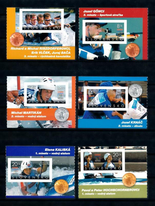 [76794] Slovakia 2004 Olympic Games Athens Canoeing Self adh. From Booklet MNH