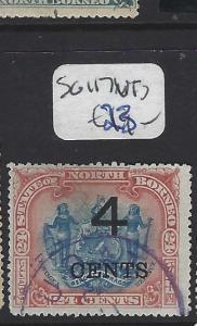 NORTH BORNEO (P2709B)  4C/24C   ARMS, LION  SG 117   VFU