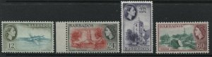 Barbados QEII 1953-56 12 to 60 cents mint o.g.
