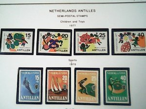 1977-78  Netherlands Antilles  Semi-Postal MNH  full page auction