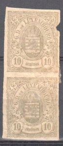 Luxembourg Rarity #33c imperf vertical pair Mint H - C$5400.00 -- Signed