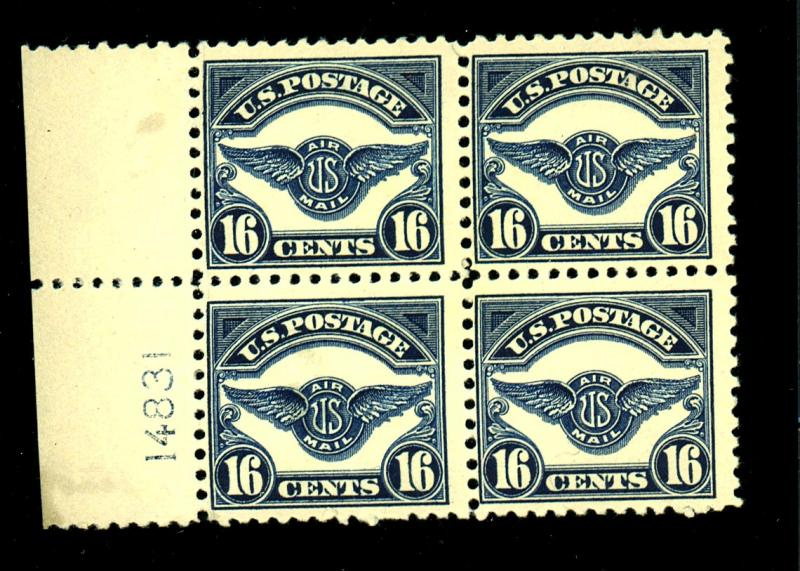 C5 MINT Block F-VF OG NH 2 stps Natural crease Cat $480
