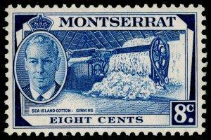 MONTSERRAT SG129, 8c deep blue, LH MINT.