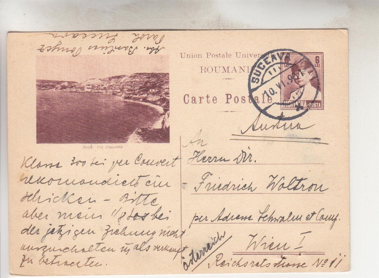 ROMANIA, Pictorial Postal Card,1930, 6L  Balcic, Vue d