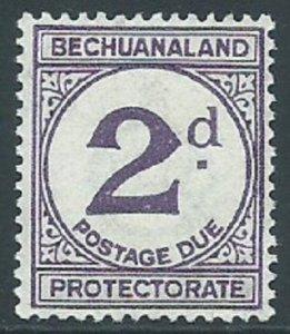 Bechuanaland Protectorate, Sc #J6, 2d MH