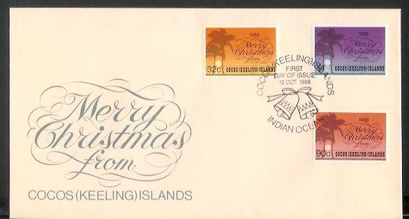 Cocos Is - 1988 Christmas (FDC)