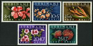 Surinam B85-B89, MI 416-420, MNH. Flowers, Hibiscus, 1962