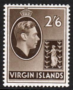 British Virgin Islands KGVI 1938 CHALK 2/6 2s6d SG118 Mint Lightly Hinged