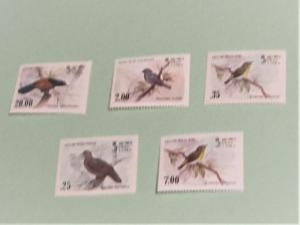 Sri Lanka - 691-4, 877 MNH Set. Birds. SCV - 7.90