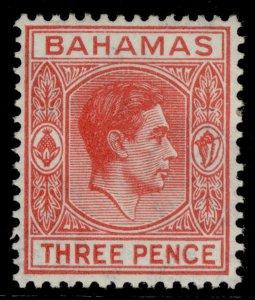 BAHAMAS GVI SG154b, 3d scarlet, M MINT.