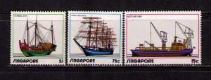 SINGAPORE 1972 Sc# 164-166 MNH FVF Set 3 Ships