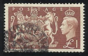 Great Britain 289 Used VF Centering