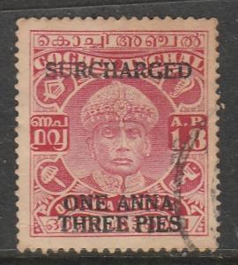 Inde / Travancore-Cochin  1943  Scott No. 62  (O)