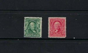 #300 & 301 MNH SINGLES FROM 1902-3 SERIES - SCV is $67.50 - W31