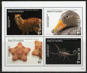 ST. KITTS  2018 NATIONAL GEOGRAPHIC SHEET OF FOUR  MINT NEVER HINGED