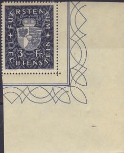 Liechtenstein 1939 Prince Franz Josef II & Coat of Arms High Values VF/NH/(**)