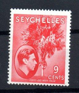 Seychelles KGVI 1938-49 9c scarlet MNH SG138 WS16596
