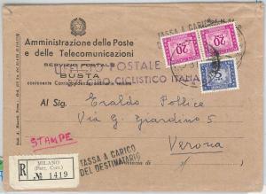 CYCLING sport -  POSTAL HISTORY - ITALIA: COVER Giro Ciclistico Italia 1954