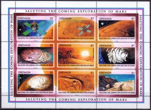 Grenada. 1991. 2278-2313 bl285-287. Space. MNH.