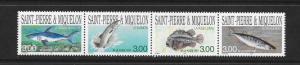 FISH - ST PIERRE & MIQUELON #639  MNH