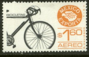 MEXICO EXPORTA C491, $1.60P. BICYCLES, PAPER 4. MINT, NH. VF.