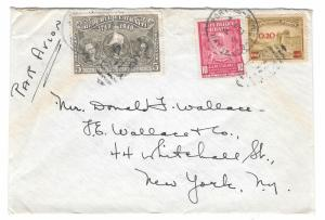 Haiti Airmail Cover Port au Prince to US 1949 Exposition backstamp RA10 372 360