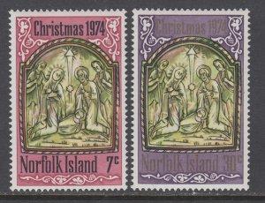 Norfolk Island 179-180 Christmas MNH VF