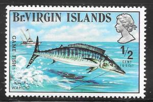 British Virgin Islands 243: 1/2c Wahoo (Acanthocybium solandri), MH, VF