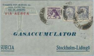 74381 - BRAZIL - POSTAL HISTORY -  4200 Reis on COVER to SWEDEN  1937