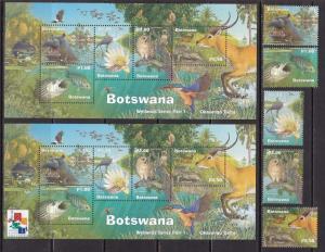 Botswana, Fauna, Animals, Birds MNH / 2000