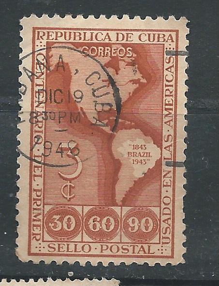 Cuba  Scott #  393    USED  single