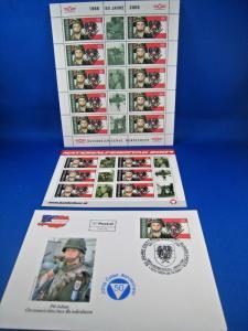 AUSTRIA 2004 - SCOTT #1973  FDC, POSTCARD & MINISHEET   (brig)