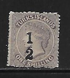 Turks Islands 141/2d on 1sh single MH
