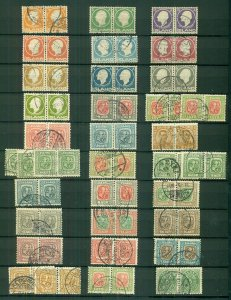 ICELAND, Pairs & Blocks, mostly 1900-1930's, used, Scott for singles $1,812