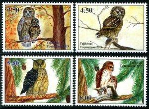 HERRICKSTAMP NEW ISSUES TADZHIKISTAN Owls