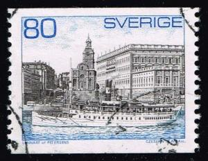 Sweden #749 Steamer and Royal Palace; Used at Wholesale