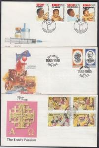 South-Africa - Bophuthatswana stamp 3 diff. sets on 3 FDC Cover 1985 WS142789
