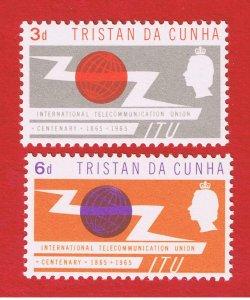 Tristan da Cunha #85-86  MNH OG    ITU  Issue   Free S/H