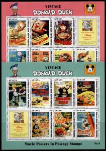 Guyana 2769a-71a,73a-75a MNH Disney Vintage Donald Duck