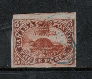 Canada #4 Extra Fine Used With Light Blue Target Cancel