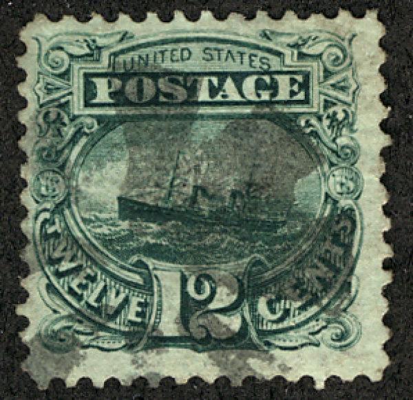 US #117 SCV $120.00  VF plus, fainter cancel, wonderfully fresh stamp!  SCV $...