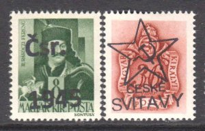 HUNGARY RUSSIA OCCUPATION LOCAL OVERPRINTS x2 #1 OG NH U/M VF BEAUTIFUL GUM