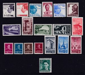 Romania a small MH lot from 1940