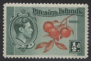 Pitcairn Is. - Scott 1 -Definitives - 1940 - MNH - Blue Grn & Org - 1/2d Stamp5