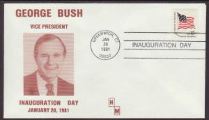 US Bush VP 1st Term 1981 Inauguration HM U/A Cover