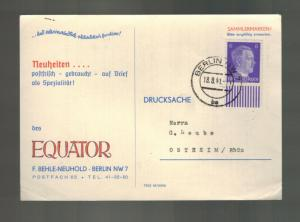 1941 Berlin Germany Advertising Postcard Cover to Ostheim