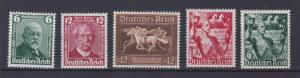 GERMANY 1936 - 38     S G 601 - 602 &  648 - 649  CAT $58   M / N / H  &  M / H