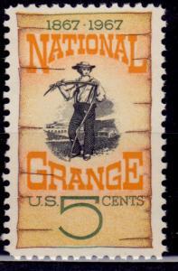 United States, 1967, National Grange, 5c, sc#1323, MNH