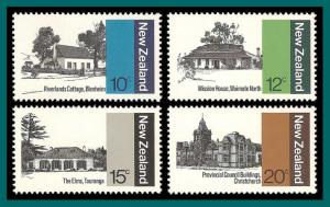 New Zealand 1979 Architecture, MNH  #681-684,SG1188-SG1191